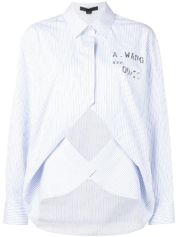 Alexander Wang Layered Striped Shirt - Blue