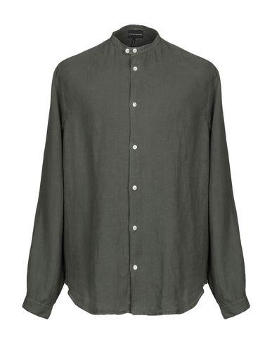 Emporio Armani Linen Shirt In Military Green