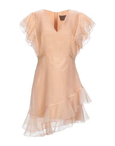 Space Style Concept Short Dress In Apricot