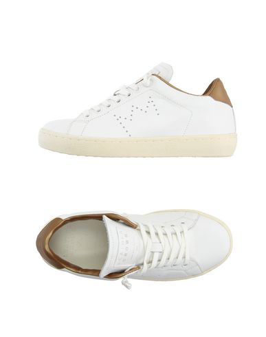 Leather Crown Sneakers In White