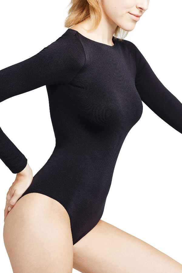 Falke Fine Cotton Body In Black