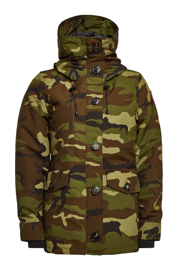 Canada Goose Rideau Printed Down Parka With Cotton In Green