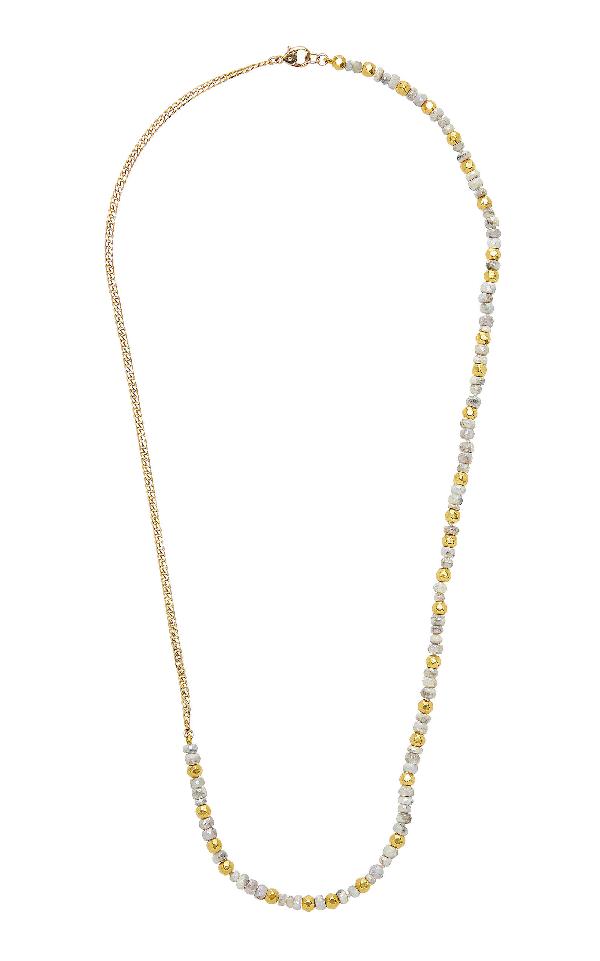Objet-a La Plage White Sapphires Necklace