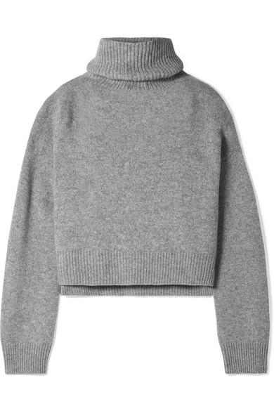 Rejina Pyo Lyn Cashmere Turtleneck Sweater In Gray