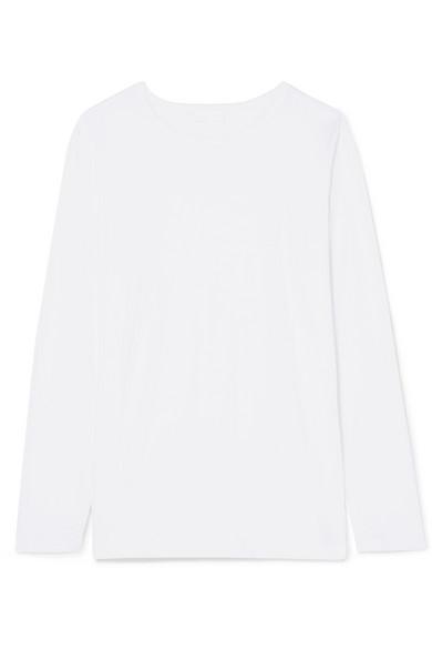 Handvaerk Cotton-jersey Top In White