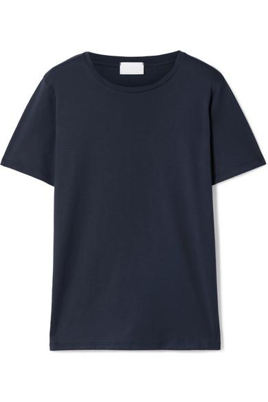 Handvaerk Pima Cotton-jersey T-shirt In Navy