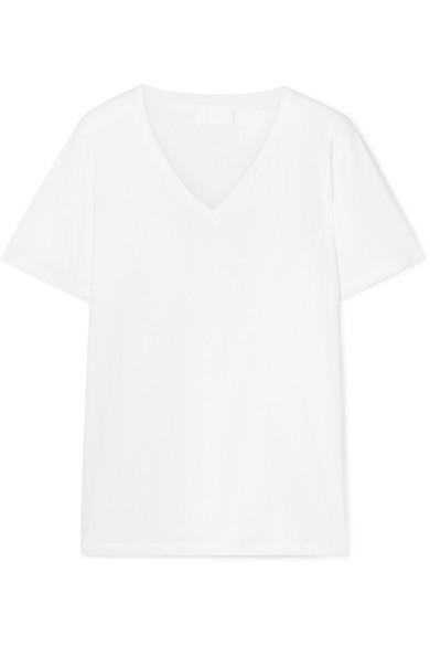 Handvaerk Pima Cotton-jersey T-shirt In White