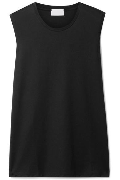 Handvaerk Pima Cotton-jersey Tank In Black