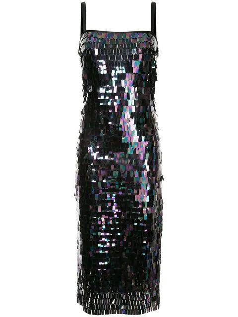 Ginger & Smart Black Pearl Dress In Metallic