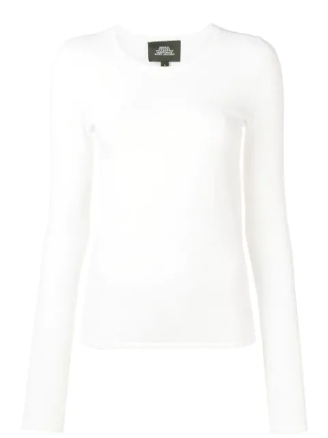 Marc Jacobs Redux Grunge Stretch Pointelle Tee In White