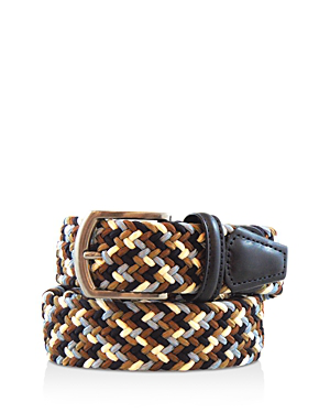 Anderson's Andersons's Multicolor Stretch Belt In Brown Multi