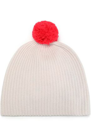 Duffy Pompom-embellished Ribbed Cashmere Beanie In Baby Pink