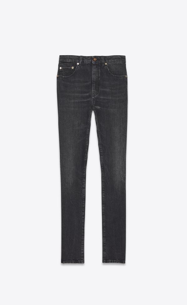 dac866273e Skinny Jeans In Vintage Dark Gray Stretch Denim in Vintage Dark Grey