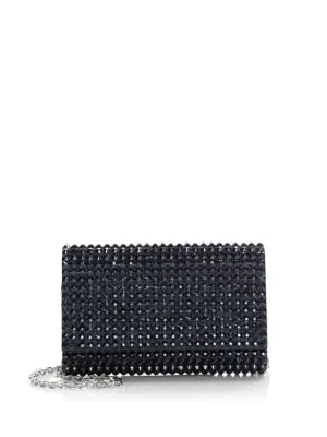 Judith Leiber Fizzoni Bling Crystal Clutch In Black