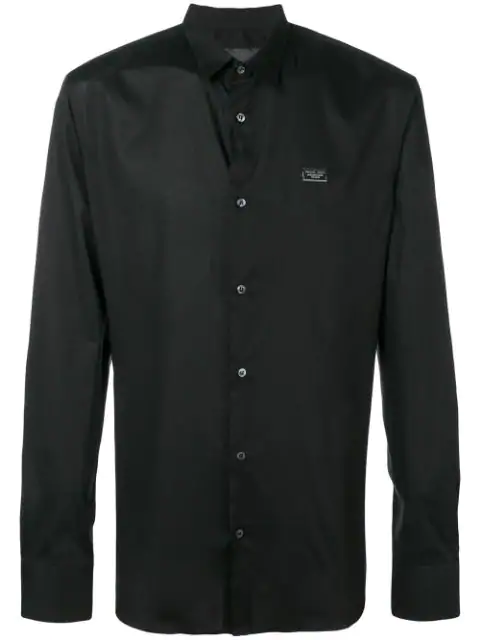 Philipp Plein Slim Fit Shirt In Black