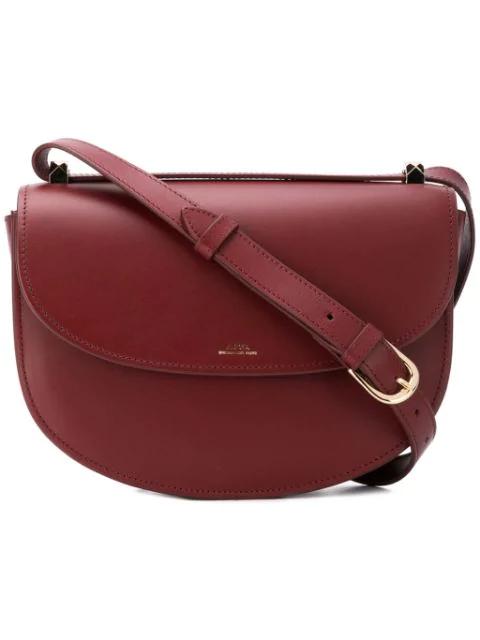 A.p.c. Sac Geneve Saddle Bag In Red