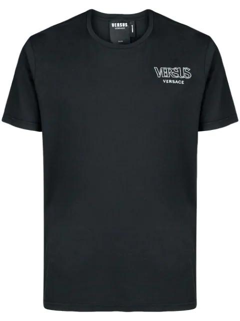 Versus Chest Logo T-shirt In Black