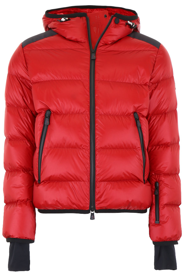 Moncler Grenoble Padded Down Hooded Jacket In Bordeaux