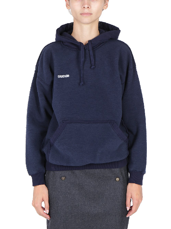 Vetements Inside Out Hoodie In Navy