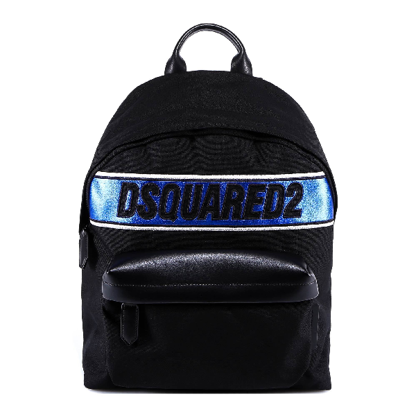 Dsquared2 Metallic Logo Backpack In Black