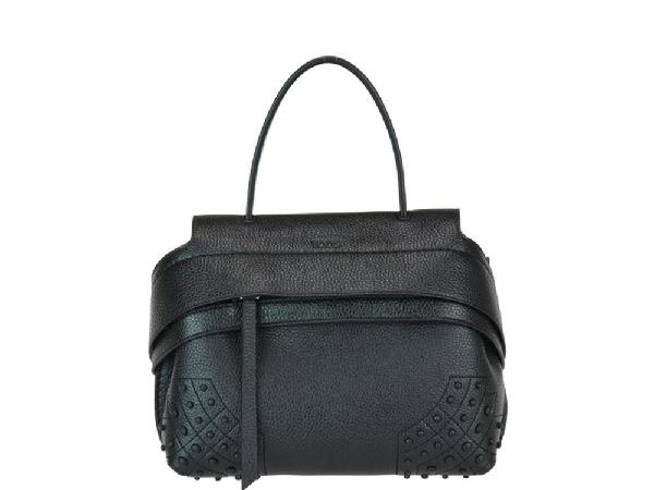 Tod's Wave Mini Tote Bag In Black