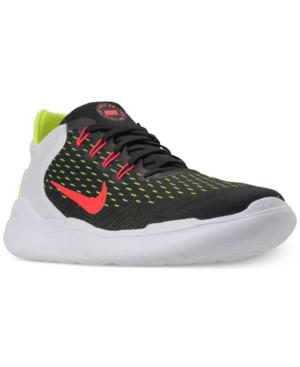 5420b256311d Nike Men s Free Run 2018 Running Sneakers From Finish Line In Black Brt  Crimson-