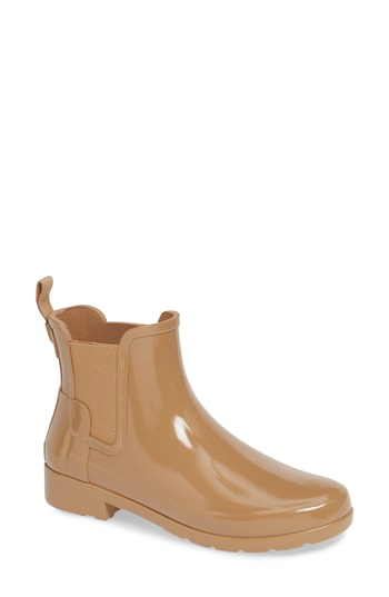 311a1f3a6 Hunter Original Refined Chelsea Waterproof Rain Boot In Tawny | ModeSens