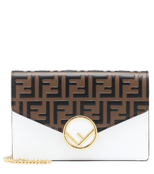 4566321311a7 Fendi Touch Of Ff Cruise Wallet Crossbody Bag In White