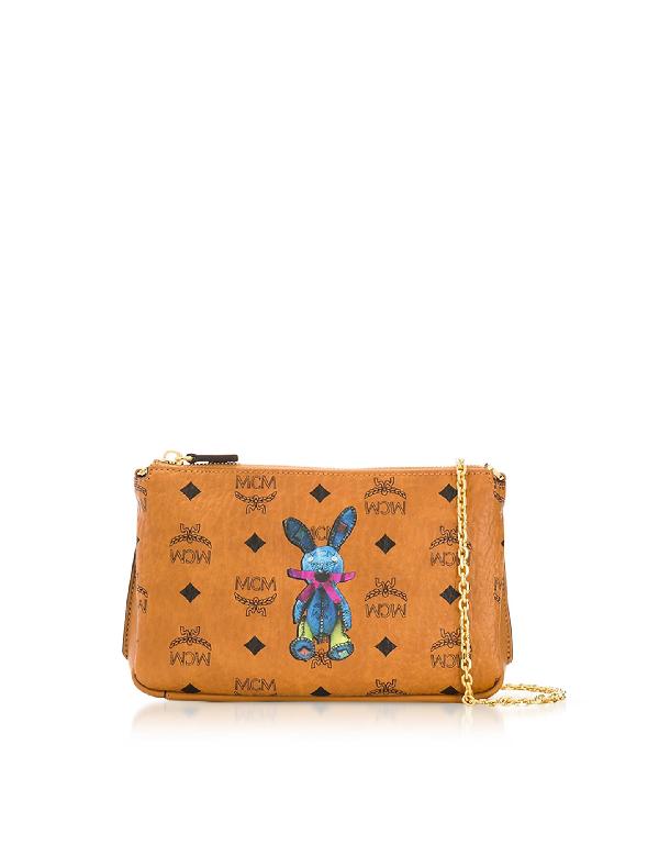 dae37fbfc Mcm Rabbit Visetos Medium Millie Top Zip Crossbody In Cognac | ModeSens