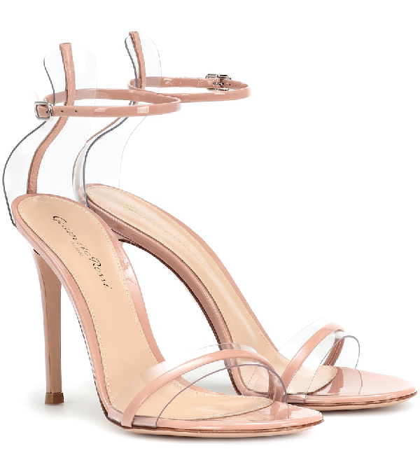 b1ac29720164 Gianvito Rossi G-String Leather Sandals In Pink