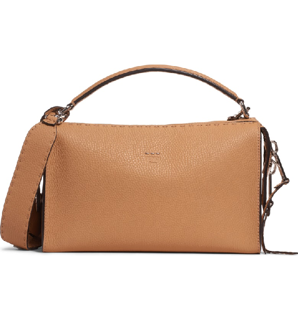 258f6f3106 Fendi Lei Selleria Leather Satchel - Brown In Miele Scuro