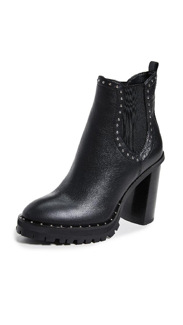 Rebecca Minkoff Women's Edolie Studded High-heel Boots In Black