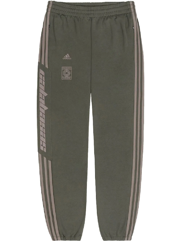 0dddf7436 Adidas Originals Adidas Calabasas Stripe Print Sweat Pants - Green ...