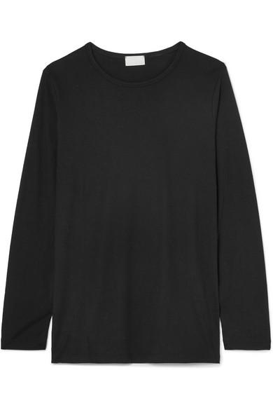 Handvaerk Pima Cotton-jersey Top In Black