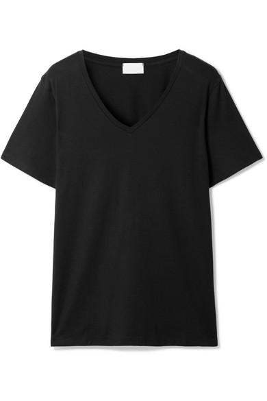 Handvaerk Pima Cotton-jersey T-shirt In Black