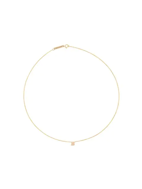 ZoË Chicco 14Kt Yellow B Initial Necklace - Gold
