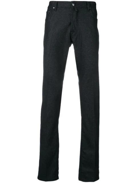 Jacob Cohen Melange Knit Jeans - Blue