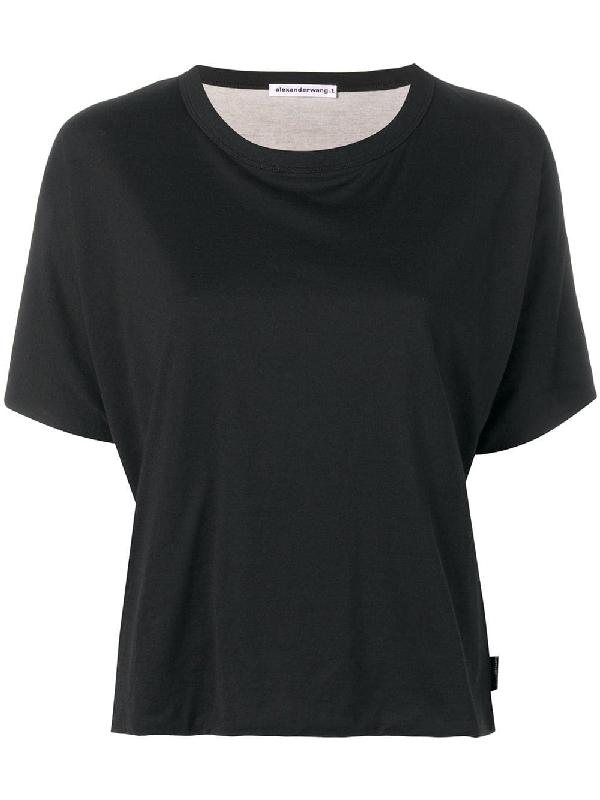798f87fb9a9f55 T By Alexander Wang Round Neck T-Shirt - Black | ModeSens