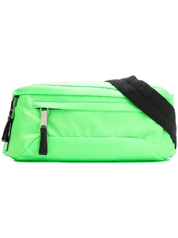 93cd12485a0c Prada Technical Fabric Belt Bag - Green | ModeSens