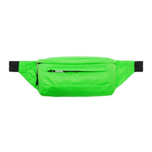 3727c718b8f2 Prada Men's Nylon Belt Bag/Fanny Pack With Fluorescent Lining, Green ...