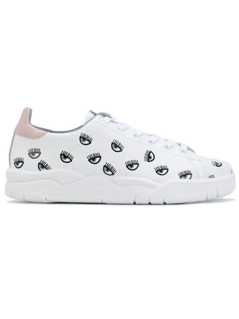 Chiara Ferragni Women's Shoes Leather Trainers Sneakers In White