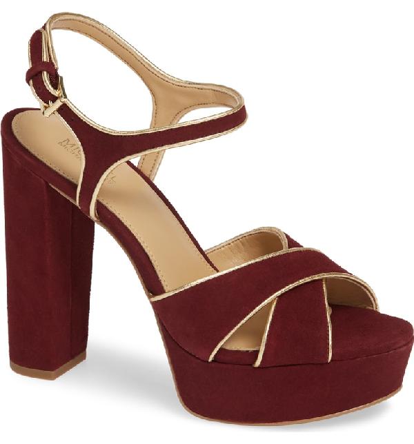 96e129d00e7 Michael Michael Kors Lexie Platform Sandal In Oxblood Suede