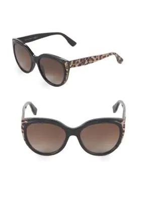 Jimmy Choo 56mm Butterfly Sunglasses In Black