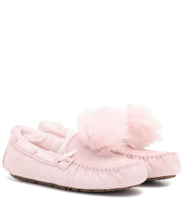 96c40780899 Dakota Pom Pom Suede Moccasins in Pink
