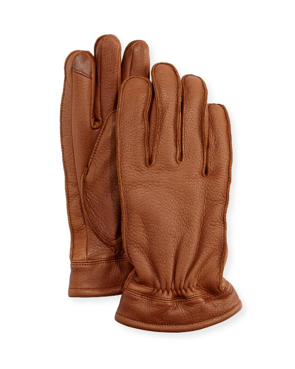 f367cdfa7de Neiman Marcus Men s Deerskin Work Gloves In Brown