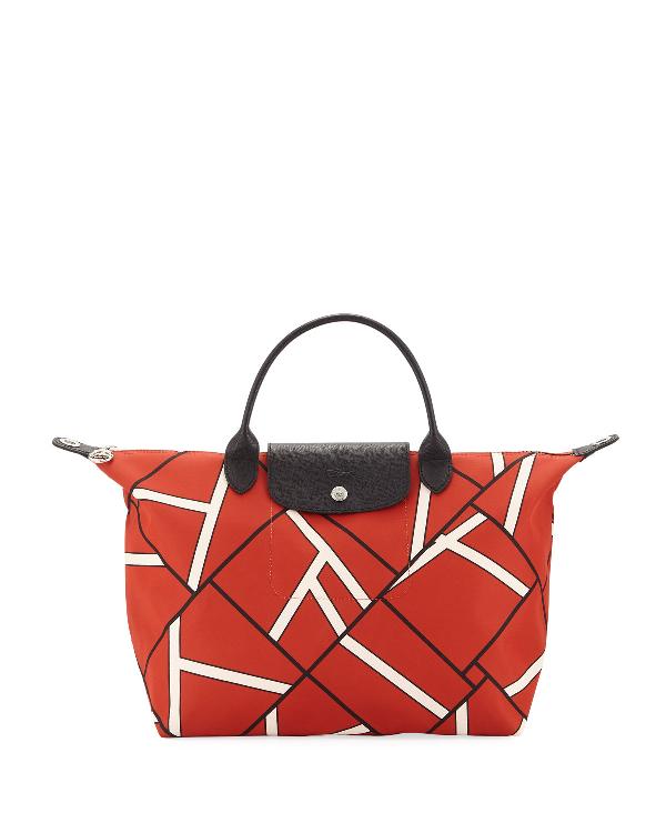 d863dd4324c Longchamp Le Pliage Neo Geo Top Handle Bag In Brown | ModeSens