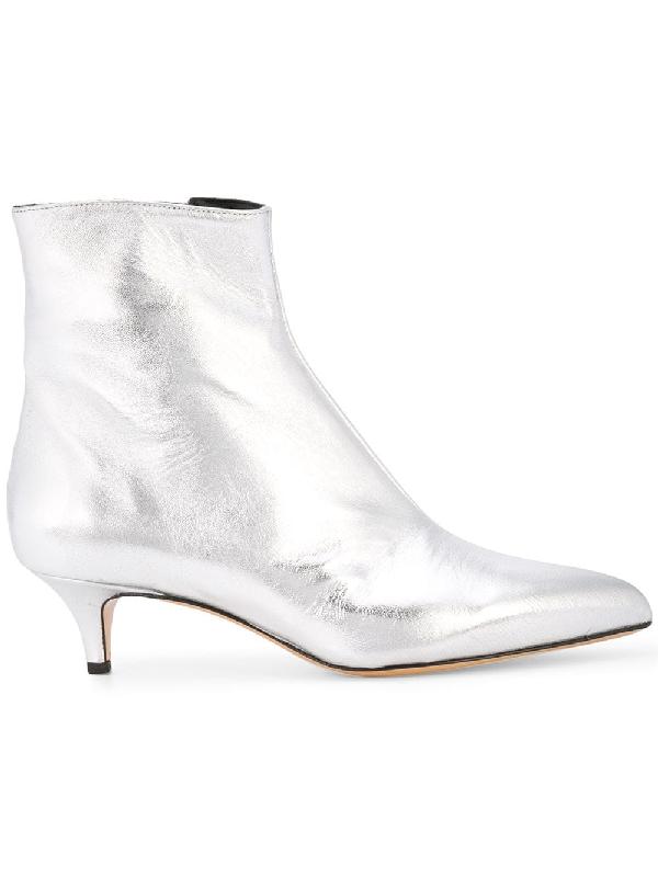 5942971cb1 Fabio Rusconi Kitten Heel Ankle Boots - Metallic | ModeSens