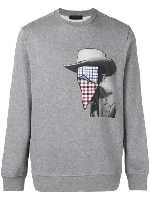 Diesel Black Gold Cowboy Print Sweatshirt In Grey