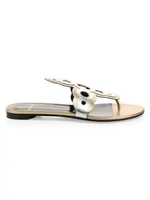 Pierre Hardy Saloni Leather Thong Sandal In Multi
