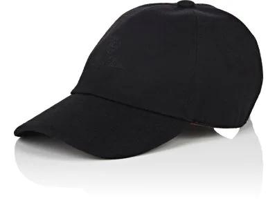 Loro Piana Storm System Cashmere Baseball Hat In Black